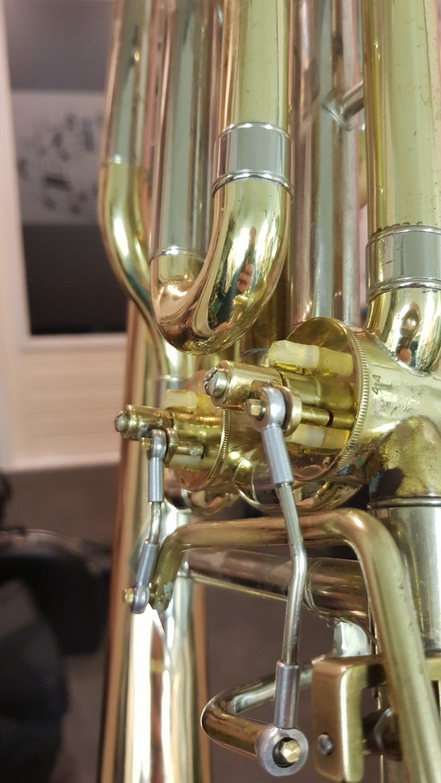 Bastrombone Kwint en Kwart ventiel